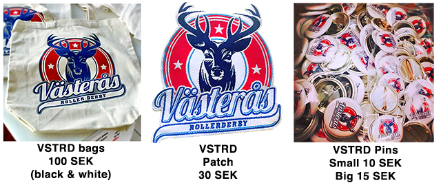 VSTRD Merch: Bags, patches and pins